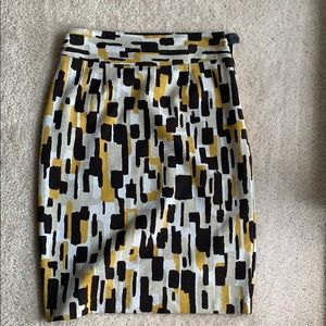 Brown and mustard color print skirt. Sz 10